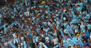 Sporting Cristal enfrenta al LDU de Quito en le Noche de la Raza Celeste. (Fernando Sangama)