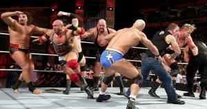 Royal Rumble 2015: debido a la gran cantidad de luchadores, el cuadrilátero de la WWE fue un caos. (WWE)