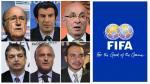 Luis Figo, Joseph Blatter y los candidatos a la presidencia FIFA - Noticias de david ginola