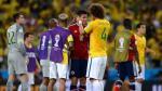 James Rodriguez reveló lo que le dijo David Luiz en el Mundial Brasil 2014