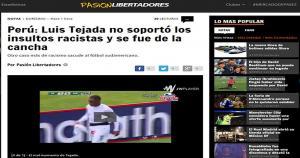 El portal 'Pasión Libertadores' lamentó los insultos de parte de los hinchas de Cienciano hacia el jugador panameño.
