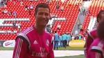 Cristiano Ronaldo y la pancarta que lo hizo reír a carcajadas (VIDEO)
