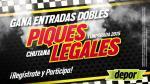 Piques Legales en La Chutana: estos son los ganadores de las 10 entradas dobles - Noticias de cristhian palomino
