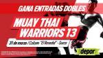 Muay Thai: los ganadores de las 15 entradas dobles para el 'Warrior 13' - Noticias de castro teixeira