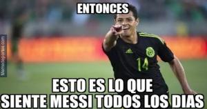 Chicharito Hernández le respondió a sus críticos que se burlaban de su suplencia en el Real Madrid. (Memedeportes.com)
