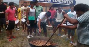 Unión Comercio realizó esta actividad de confraternidad luego de los entrenamientos en Moyobamba. (Unión Comercio)