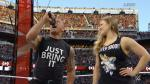 WrestleMania 31: Ronda Rousey usó polo con personaje de Dragon Ball Z (VIDEOS) - Noticias de foto papeletas