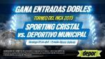Sporting Cristal vs. Municipal: Depor te regala entradas dobles - Noticias de sporting cristal