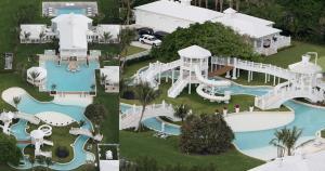 Esta piscina pertenece a la cantante Celine Dion. Su lujosa mansión de Florida está valorizada en 20 millones de dólares. (Foto: Pinterest/DailyMail)