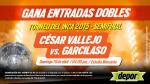 César Vallejo vs. Garcilaso: estos son los ganadores de las entradas dobles - Noticias de jacqueline jorge