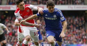 Arsenal y Chelsea se enfrentaron en el mejor partido de la fecha de la Premier League. (Reuterrs)