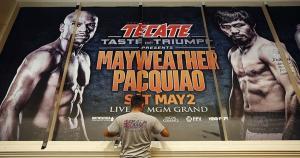 El MGM Grand Garden Arena está listo para recibir a los fanáticos del boxeo. (AP)