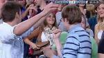 Antonella Rocuzzo tuvo efusiva celebración tras doblete de Lionel Messi con Barcelona - Noticias de esposa de messi