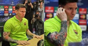 Lionel Messi se hizo un tatuaje en el brazo derecho que fue inspirada en el Templo Expiatorio de la Sagrada Familia de Barcelona,  (Sport.es)