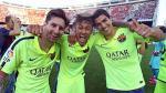 Lionel Messi festejó título del Barcelona con foto del tridente 'MSN' - Noticias de neymar en barcelona