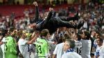 Carlo Ancelotti levantó cuatro trofeos con el Real Madrid. (Getty)