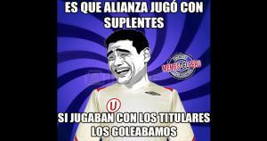 Este fue el primer clásico del año entre Alianza Lima y Universitario de Deportes del año. Y los Memes no se hicieron esperar.