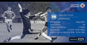Ubaldo Fillol (Argentina) fue votado como el mejor arquero de la Copa América. (Copa América)