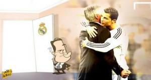 Florentino Pérez le comunicó a Carlo Ancelotti que no seguía más en Real Madrid. (MemeDeportes)