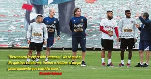 El técnico de la Selección Peruana aseguró que no saldrá a defender siempre. (USI)