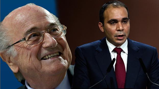 Ali Bin Al Hussein se retiró y dejó que Blatter siga siendo presidente de la FIFA. (Ilustración Depor)