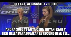 Lana se aburrió de los maltratos de Rusev y ahora es pareja de Dolph Ziggler. (Facebook WWE Fans Perú)