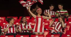 Barcelona vs. Athletic de Bilbao: las hinchadas armaron la fiesta en Camp Nou. (Agencias)