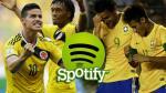 Brasil vs. Colombia: este partidazo de Copa América ya se juega en Spotify - Noticias de canciones criollas