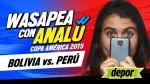Perú vs. Bolivia: lo mejor del wasapea con Analú (VIDEO) - Noticias de alexander bustillos