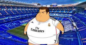 Real Madrid. Así se ven los cracks merengues en una versión obesa creada por el ilustrador colombiano Fulvio Obregon. (Marca)