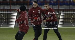 Juan Manuel Vargas le puso la chispa al entrenamiento de la Selección Peruana en Concepción.  (Fernando Sangama)