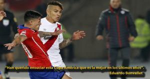 Chile le ganó 2-1 a Perú en las semis de la Copa América. (Agencias)
