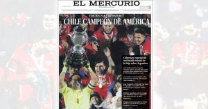 Así informa la prensa de Chile el triunfo de su selección en la Copa América.