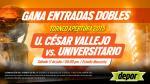 Universitario vs. César Vallejo: Depor te regala 15 entradas dobles - Noticias de choque de buses
