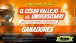 César Vallejo vs. Universitario: estos son los ganadores de las entradas dobles - Noticias de roberto enriquez