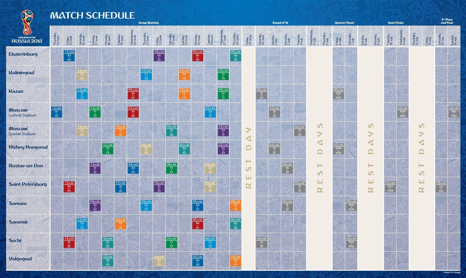 Calendario Eliminatorias 2018 Sudamerica