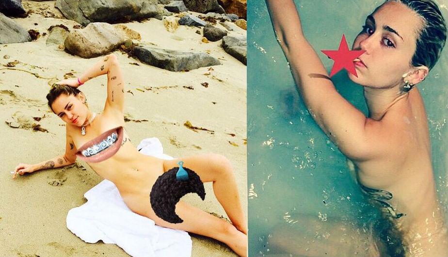 Miley Cyrus se desnuda por completo para Terry