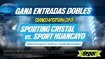 Sporting Cristal vs. Sport Huancayo: Depor te regala entradas dobles - Noticias de daniel ahmed