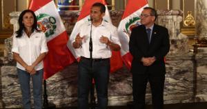 Ollanta Humala junto a Nadine Heredia encabezaron la ceremonia en Palacio de Gobierno. (Jesús Saucedo)