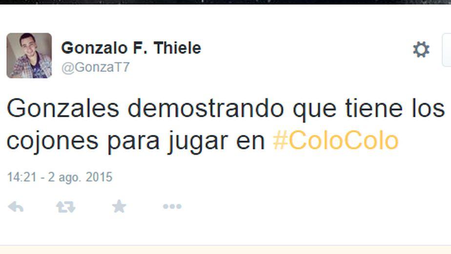 Christofer Gonzales jugó un partidazo con Colo Colo. (Twitter)