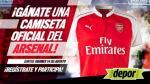 Este es el ganador de la camiseta del Arsenal - Noticias de alexis reategui