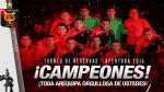Torneo de reservas: Melgar se proclamó campeón del Torneo Apertura - Noticias de fecha 18 descentralizado