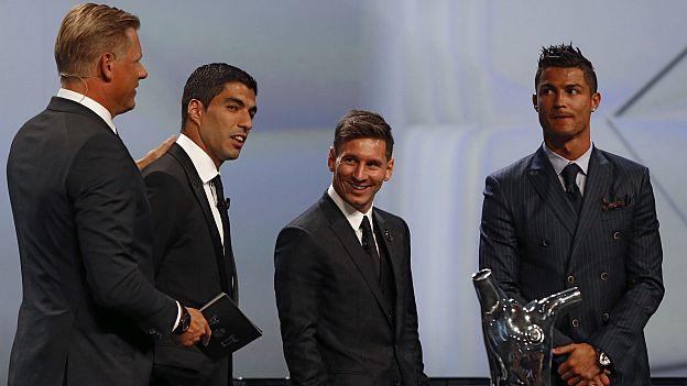 Lionel Messi Cristiano Ronaldo Luis Suárez fue elegido el mejor ... 977a4ce9de259