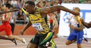 Usain Bolt fue el corredor número 4 de Jamaica en el Mundial de Atletismo 2015. Era el encargado de finalizar. (Reuters)
