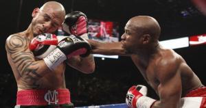 Para Floyd Mayweather, el puertorriqueño Miguel Cotto ha sido uno de sus rivales más fuertes. (floydmayweather411.com)
