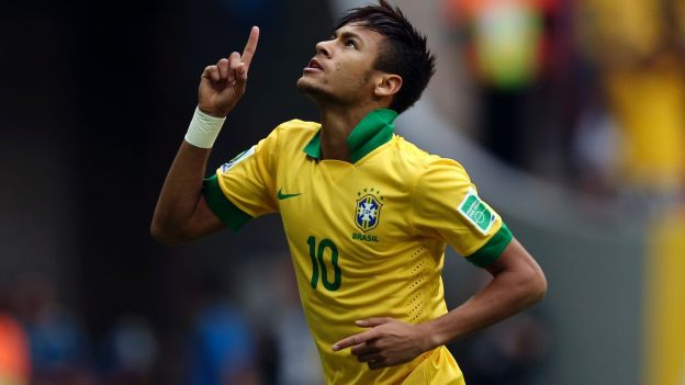 Neymar castigado en Brasil por no anotar un gol (VIDEO)