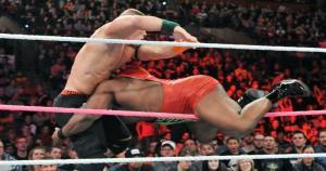 John Cena y Big E, de The New Day, se enfrentaron por el Campeonato de los Estados Unidos. El marino fue el gran vencedor. (WWE)