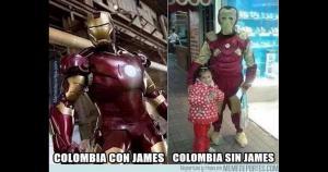 James Rodríguez, por lesión, no estará en el debut ante Perú. (Memedeportes)