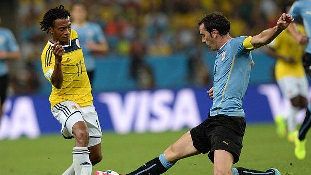 Colombia llegó a cuartos del Mundial Brasil 2014 tras eliminar a Uruguay (Getty Images).