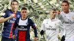 Real Madrid vs. PSG: el duelo de las plantillas multimillonarias - Noticias de christian bale
